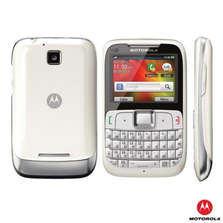 Celular Motorola Motogo MREX430 Branco com Acesso ao Google Maps, 3G, Wi-Fi, Bluetooth, Câmera 2 MP, Rádio FM, MP3 Playe