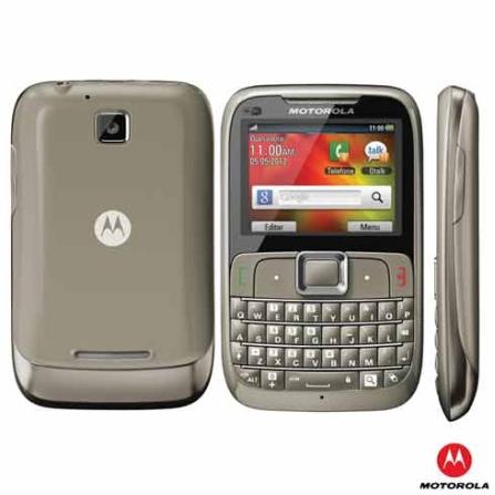Celular Motorola Motogo MREX430 Cinza com Acesso ao Google Maps, 3G, Wi-Fi, Bluetooth, Câmera 2 MP, Rádio FM, MP3 Player