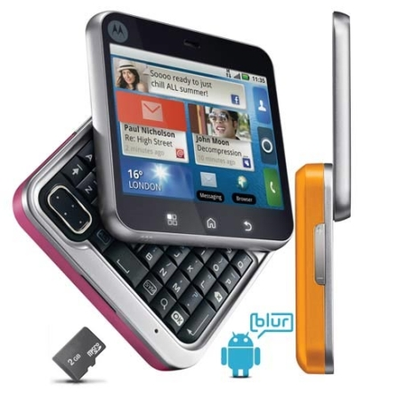 Smartphone Flipout/Full Touch/Android/3G Motorola