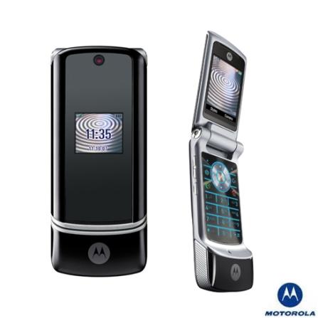 Celular GSM KRZR K1 Preto com Câmera 2.0MP / MP3 Player / Bluetooth /Cartão de 128MB - Motorola
