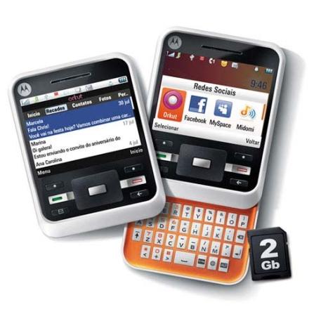Celular A45 Motocubo Slider/Display 2.5