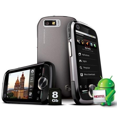 Nextel i1 Wi-Fi,5.0MP, GPS, Android + 8GB Motorola, Bivolt, Bivolt, Preto, I, 12 meses, Sim