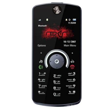 Celular ROKR E8 Preto com Câmera 2.0 MP / Music Player / Rádio FM / Bluetooth / Tela Widescreen / Fast Scroll / Morphing