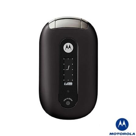 Celular GSM U6 Pebl Preto com Câmera VGA / Toques MP3 - Motorola
