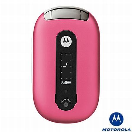Celular GSM U6 Pebl Rosa sem Fone de Ouvido Bluetooth Motorola