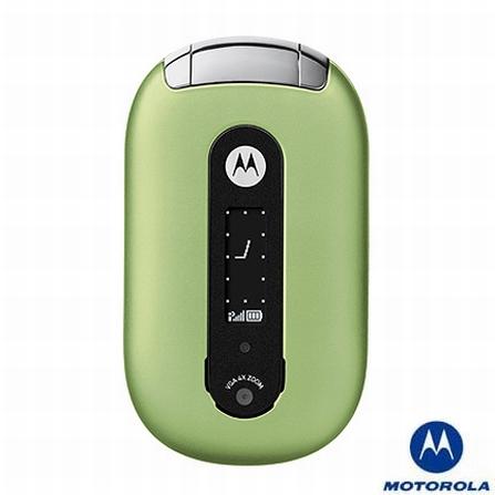 Celular GSM U6 Pebl Verde sem Fone de Ouvido Bluetooth Motorola