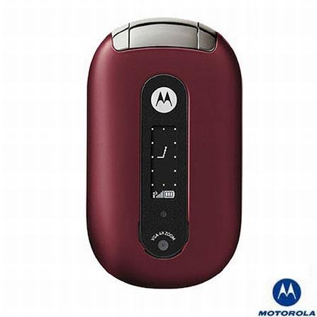 Celular GSM U6 Pebl Vinho com Câmera VGA / Fone de Ouvido Bluetooth / Toques MP3 - Motorola