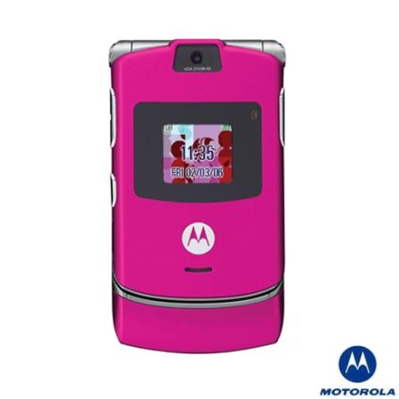 Celular GSM V3 Pink Simples Motorola