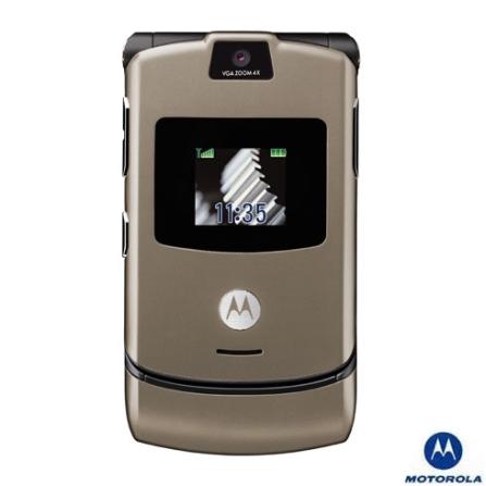 Celular V3 Stone Gray com Câmera VGA Motorola - V3STONE