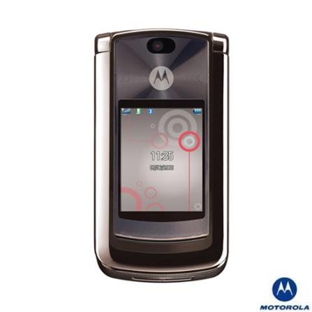 Celular GSM V8 Platinum com Câmera 2.0MP / MP3 Player / Vídeo MPEG4 / Bluetooth / Memória Interna de 2Gb - Motorola