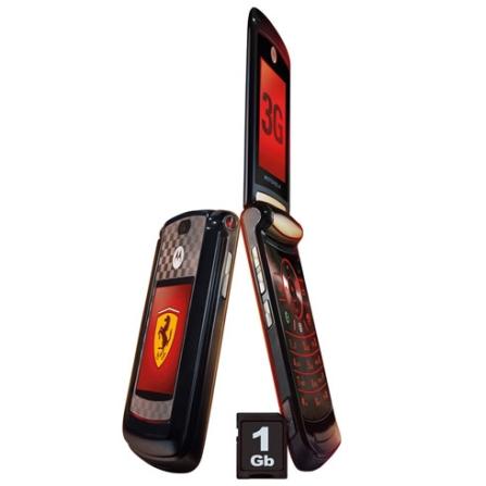 Celular V9 Ferrari Preto com Tecnologia 3G / Conteúdo da Scuderia Ferrari / Câmera 2.0MP / Bluetooth / MP3 Player / Cart