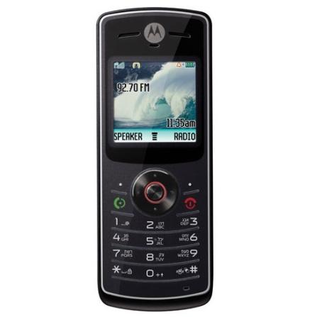 Celular GSM W180 Preto com Rádio FM / Crystal Talk / Viva Voz Integrado / Jogos Pré-Carregados - Motorola
