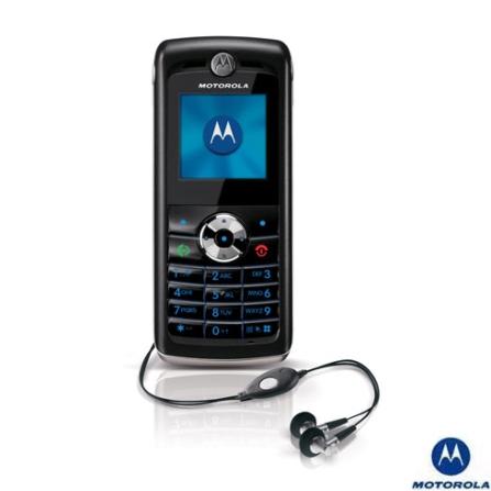 Celular GSM W218 Preto com Rádio FM integrado / Câmera VGA / Viva-voz integrado - Motorola - W218