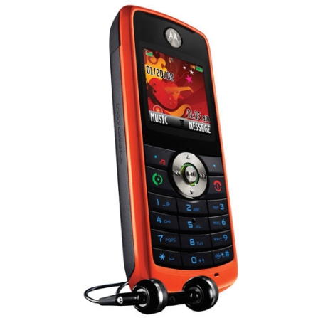 Celular GSM W230 Laranja com MP3 e Rádio FM / Display Colorido / Cartão de 512MB - Motorola