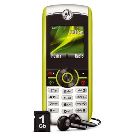 Celular GSM W233 MP3 / MotoID +Cartão 1GB Motorola