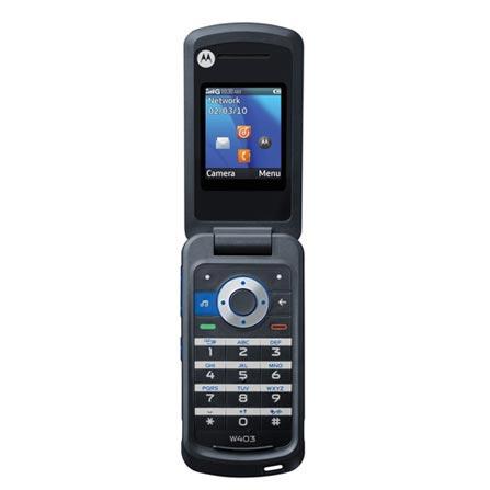Celular GSM W403 Prata com MP3 Player / Bluetooth / Rádio FM / Câmera VGA / Cartão de 2GB - Motorola