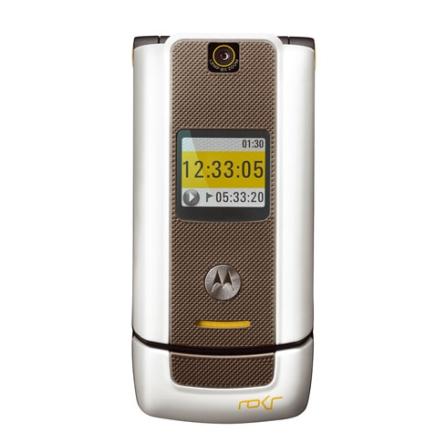 Celular GSM W6 Branco com  Câmera 1.3MP / Bluetooth / MP3 Player / Cartão de 1GB / MotoID - Motorola