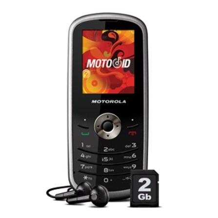 Celular GSM WX290 Prata com MP3 Player / Bluetooth / Radio FM com RDS / Cartão de 2GB - Motorola