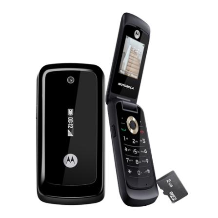 Celular WX295 Bluetooth, MP3, Cartão 2GB Motorola