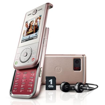 Celular GSM Slider ZN200 Rosa com Câmera de 2.0 MP / MP3 Player com Motoid / Rádio FM / Bluetooth / Morphing  / Cartão M