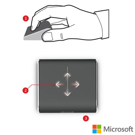 Mouse Wedge Touch Microsoft, Periféricos
