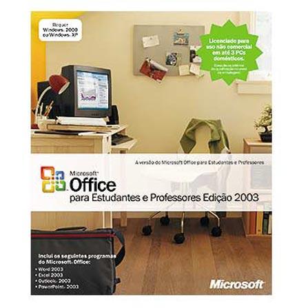 ( é CJ ) Office Educacional 2003 Standard Microsoft - MS503_00275