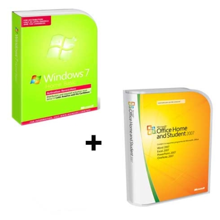 Windows 7 Home Basic + Office 2007 Microsoft