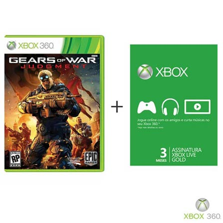 Jogo Gears of War: Judgment + Cartão Live 3 Meses Gold, GM