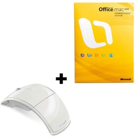 Mouse Arc Dobrável Wireless + Office Mac 2008