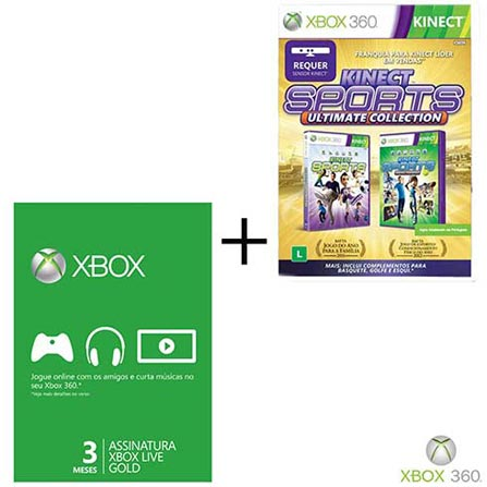 Sports Ultimate Collection XBOX 360+Live 3 Meses, GM