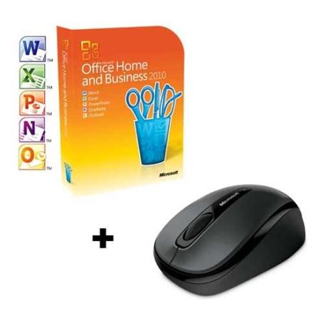 Office Home&Business 2010,2 Licenças+Mouse sem fio