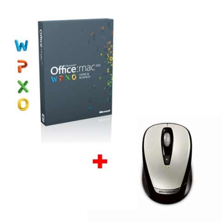 Office Mac 2011 Home & Business + Mouse Microsoft