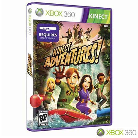 Xbox 360 Slim 250GB com Kinect e Jogo Kinect Adventures + HD 320GB Preto Brilhante, GM