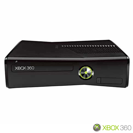 XBOX 360 Slim 250GB + HD 320GB Preto Brilhante