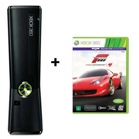 Xbox 360 Slim 4GB + Jogo Forza 4, GM