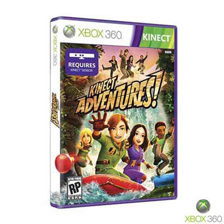 Xbox 360 Slim 4GB com Kinect e Jogo Kinect Adventures + Jogo Fable III, GM