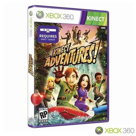 Xbox 360 Slim 4GB com Kinect e Jogo Kinect Adventures + Media Remote, GM