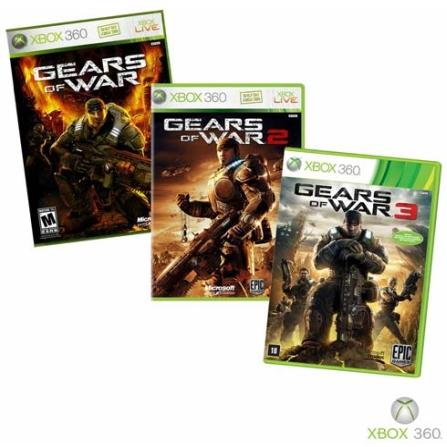 Gears of War 1, 2 e 3 XBOX 360, GM
