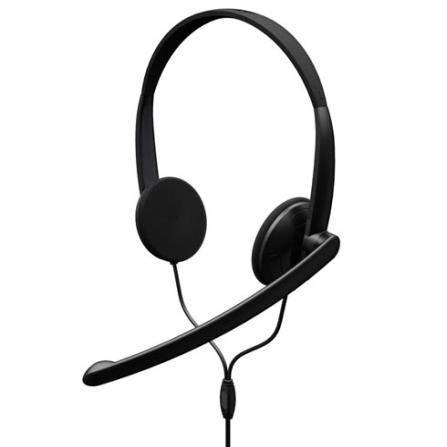 Microfone Anulador de Ruídos / Alto-falantes almofadados / Preto - Microsoft LifeChat LX-1000 - JTD00002