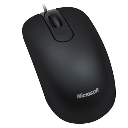 Mouse Óptico com Design Ambidestro / Preto - Microsoft Optical Mouse 200 - JUD00001