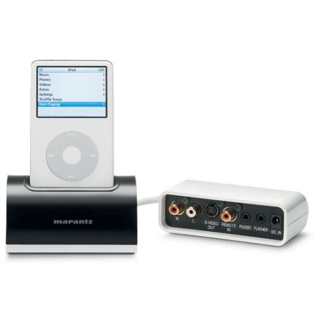 Dock Station para iPod com Controle Remoto / Saída de Vídeo e Áudio / Fácil Instalação - Marantz - IS201