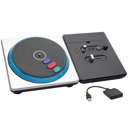 DJ Hero Preto e Cinza para PS2 / PS3 - Integris - DJHEROPS23