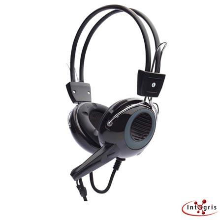 Fone de Ouvido Integris F888B Preto e Cinza com Microfone