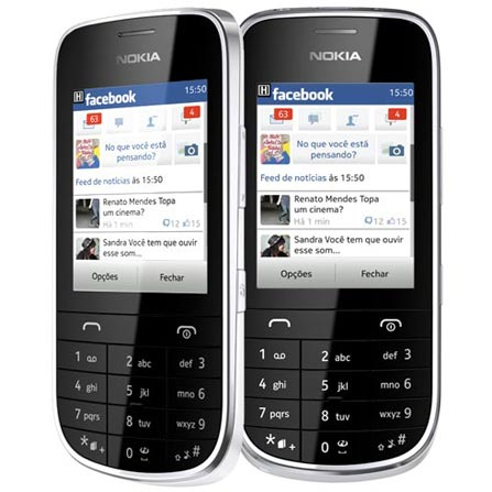 Celular Nokia Asha 202 Dual Chip com Display de 2.4