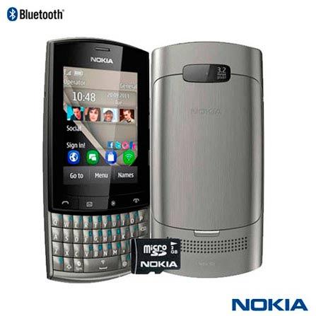 Celular Nokia Asha 303 Prata com 3G