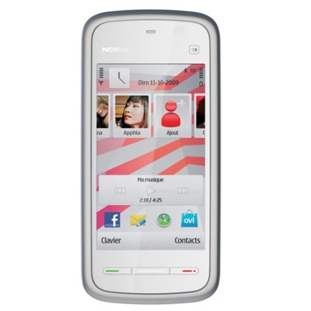 Celular GSM 5230 Branco e Vermelho com Câmera  de 2.0MP / Bluetooth / Rádio FM / MP3 Player / Sistema Operacional Symbia