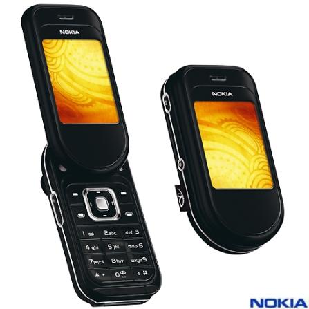 Celular GSM 7373 com Câmera de 2.0MP, MP3 Player, Rádio FM, Bluetooth, Vídeo Streaming e Cartão MicroSD de 256MB - Nokia