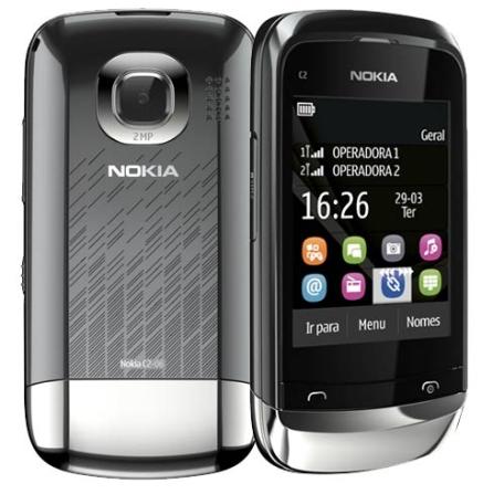 Celular Nokia C2-06 com Display de 2.6