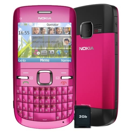 Celular Smartphone C3 Teclado QWERTY/ Wi-Fi Nokia
