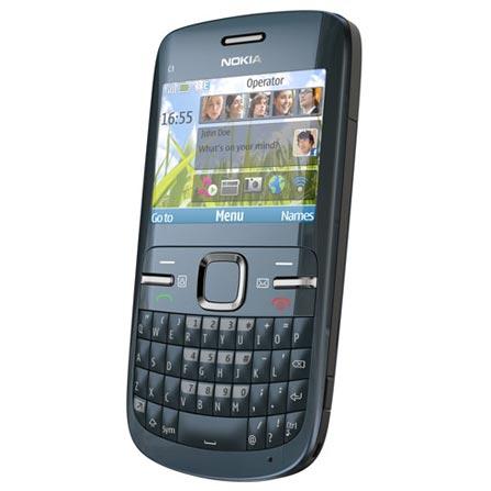 Smartphone Nokia C3 Azul Metálico com Câmera 2.0MP